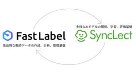 マルチAIプラットフォーム「SyncLect」とアノテーションプラットフォームの「FastLabel」連携を開始。映像物体検出エッジAIをノーコードで転移学習可能に。